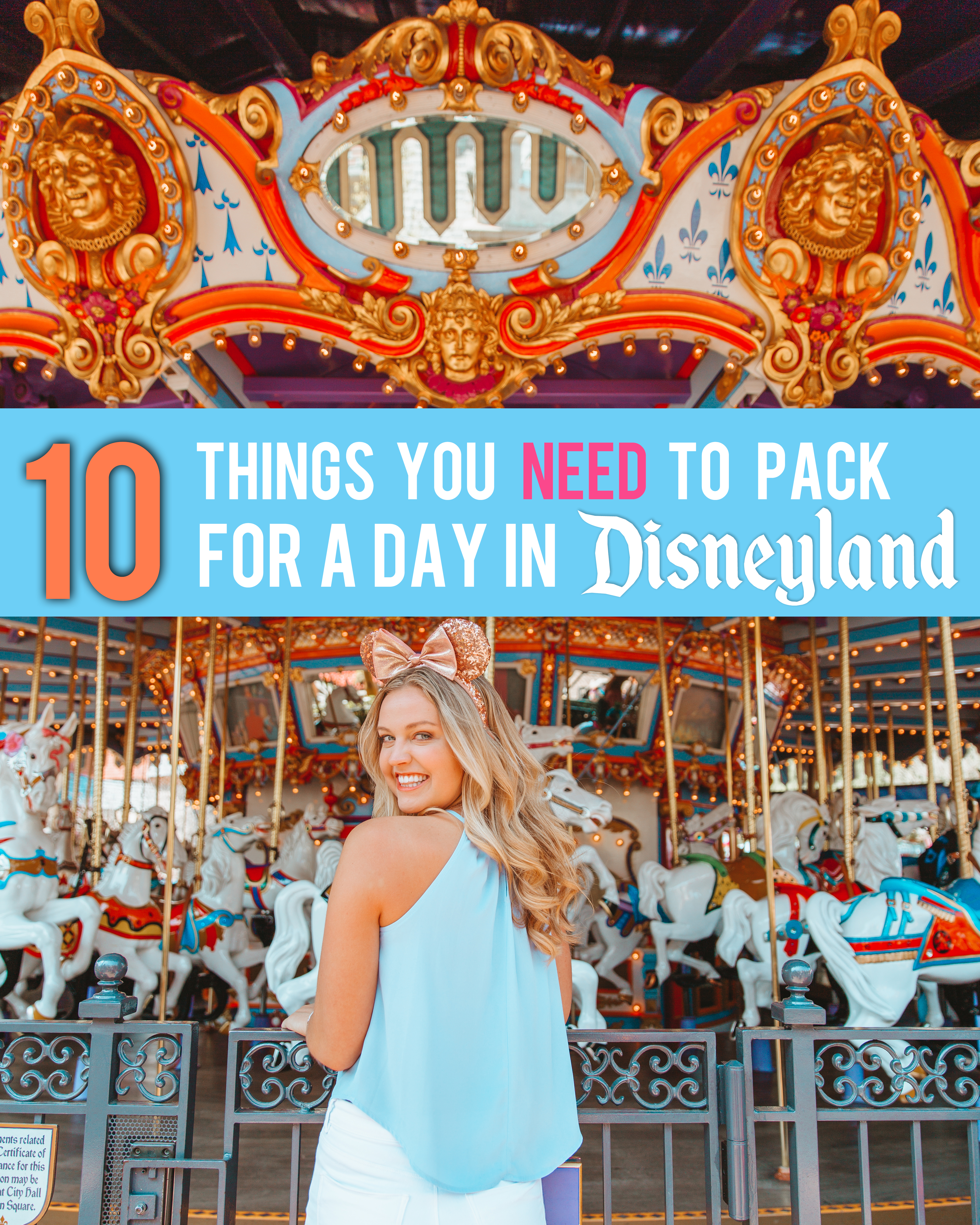 10 things you NEED to pack for a day in Disneyland