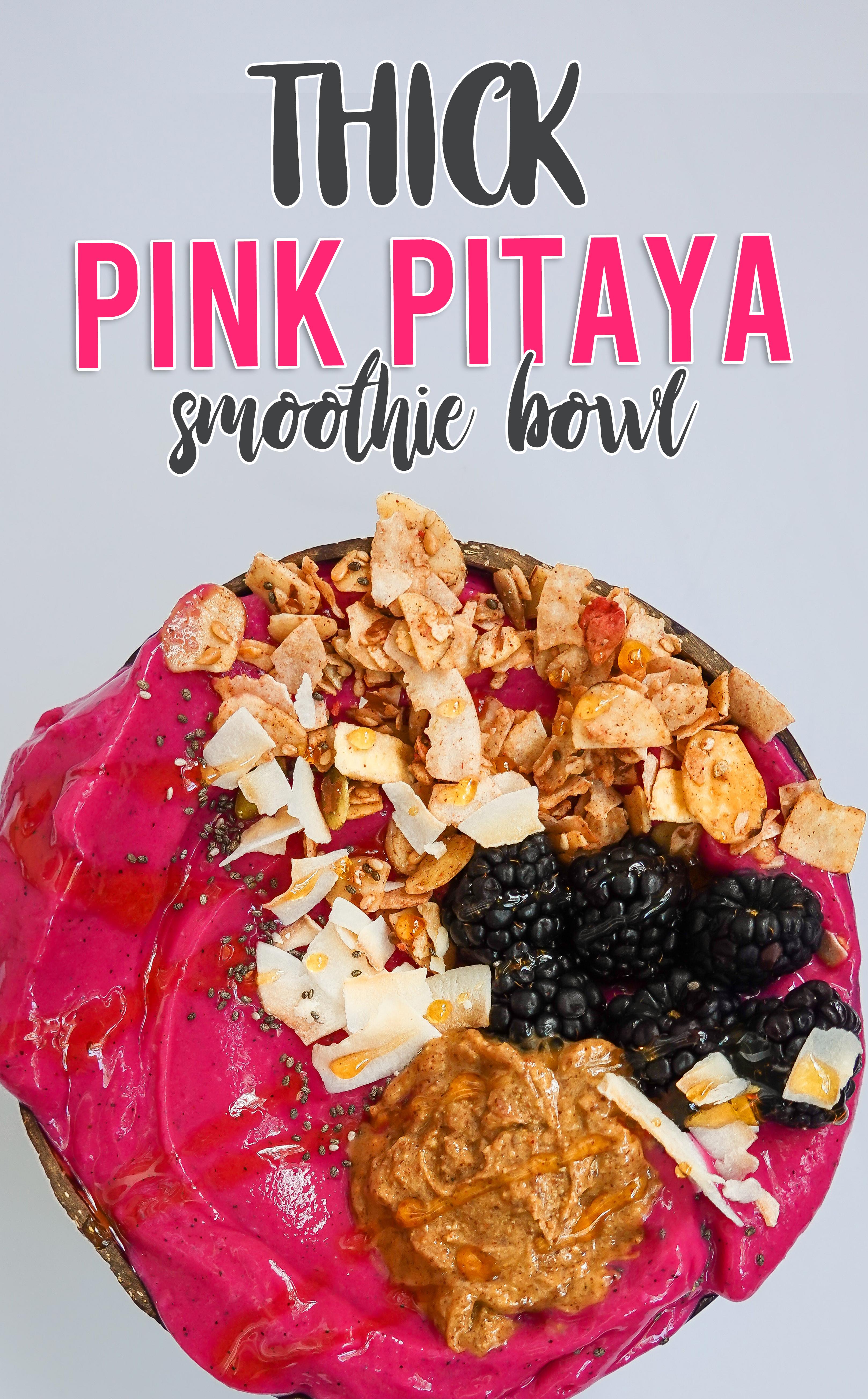 Pink Pitaya Smoothie Bowl Recipe